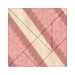 Background Pink Great Floral Design Acrylic Tangram Puzzle (6  X 6 )