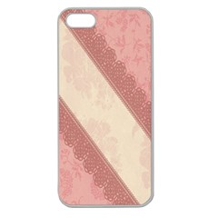 Background Pink Great Floral Design Apple Seamless Iphone 5 Case (clear)