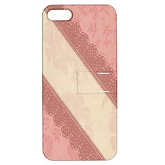 Background Pink Great Floral Design Apple iPhone 5 Hardshell Case with Stand