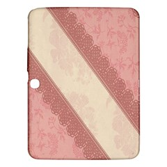 Background Pink Great Floral Design Samsung Galaxy Tab 3 (10 1 ) P5200 Hardshell Case