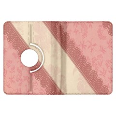 Background Pink Great Floral Design Kindle Fire HDX Flip 360 Case