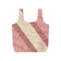 Background Pink Great Floral Design Full Print Recycle Bags (s)