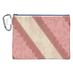 Background Pink Great Floral Design Canvas Cosmetic Bag (xxl)