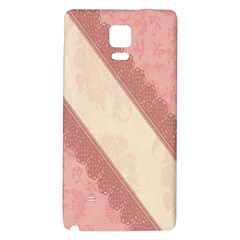 Background Pink Great Floral Design Galaxy Note 4 Back Case