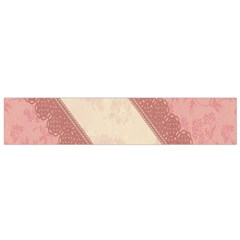 Background Pink Great Floral Design Flano Scarf (Small)