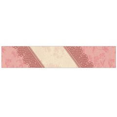 Background Pink Great Floral Design Flano Scarf (large)