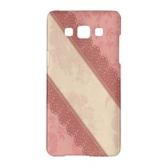 Background Pink Great Floral Design Samsung Galaxy A5 Hardshell Case