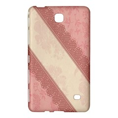 Background Pink Great Floral Design Samsung Galaxy Tab 4 (8 ) Hardshell Case