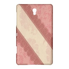 Background Pink Great Floral Design Samsung Galaxy Tab S (8.4 ) Hardshell Case