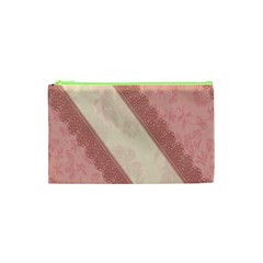 Background Pink Great Floral Design Cosmetic Bag (xs)
