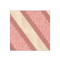 Background Pink Great Floral Design Satin Bandana Scarf