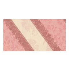 Background Pink Great Floral Design Satin Shawl
