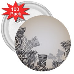 Background Retro Abstract Pattern 3  Buttons (100 pack)