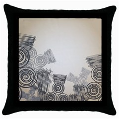 Background Retro Abstract Pattern Throw Pillow Case (Black)