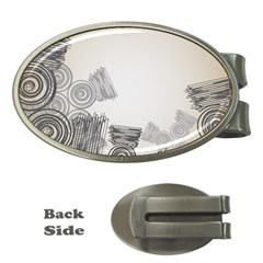 Background Retro Abstract Pattern Money Clips (oval)