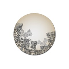 Background Retro Abstract Pattern Magnet 3  (Round)