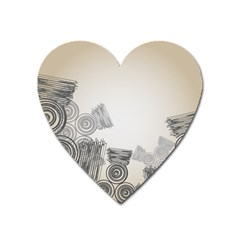 Background Retro Abstract Pattern Heart Magnet