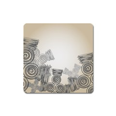 Background Retro Abstract Pattern Square Magnet