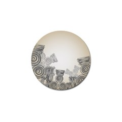 Background Retro Abstract Pattern Golf Ball Marker