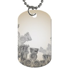 Background Retro Abstract Pattern Dog Tag (Two Sides)