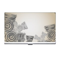 Background Retro Abstract Pattern Business Card Holders