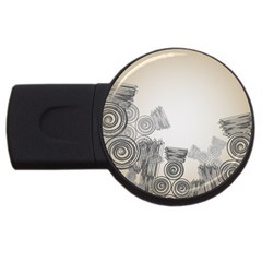 Background Retro Abstract Pattern USB Flash Drive Round (1 GB)