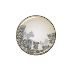 Background Retro Abstract Pattern Hat Clip Ball Marker