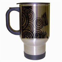 Background Retro Abstract Pattern Travel Mug (Silver Gray)