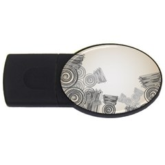 Background Retro Abstract Pattern USB Flash Drive Oval (4 GB)