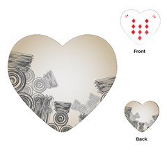 Background Retro Abstract Pattern Playing Cards (Heart)