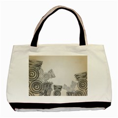 Background Retro Abstract Pattern Basic Tote Bag