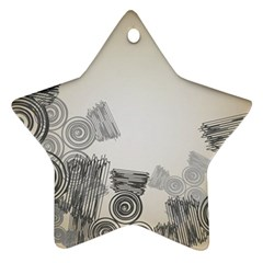 Background Retro Abstract Pattern Star Ornament (Two Sides)