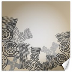 Background Retro Abstract Pattern Canvas 12  x 12