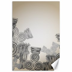 Background Retro Abstract Pattern Canvas 12  x 18