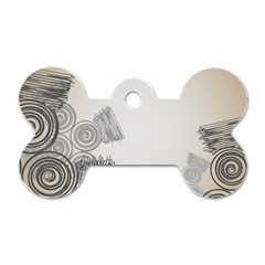 Background Retro Abstract Pattern Dog Tag Bone (two Sides)