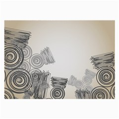 Background Retro Abstract Pattern Large Glasses Cloth (2-Side)