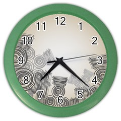 Background Retro Abstract Pattern Color Wall Clocks