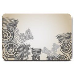 Background Retro Abstract Pattern Large Doormat