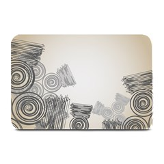 Background Retro Abstract Pattern Plate Mats