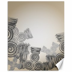 Background Retro Abstract Pattern Canvas 11  x 14
