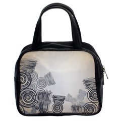 Background Retro Abstract Pattern Classic Handbags (2 Sides)