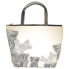 Background Retro Abstract Pattern Bucket Bags