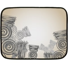 Background Retro Abstract Pattern Double Sided Fleece Blanket (Mini)