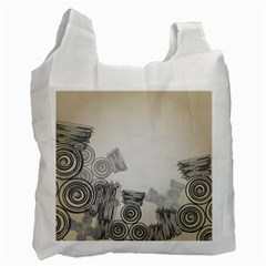 Background Retro Abstract Pattern Recycle Bag (Two Side)