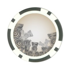 Background Retro Abstract Pattern Poker Chip Card Guard (10 pack)