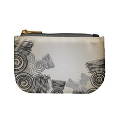 Background Retro Abstract Pattern Mini Coin Purses
