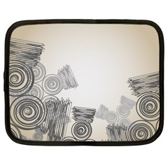 Background Retro Abstract Pattern Netbook Case (XXL)