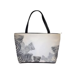 Background Retro Abstract Pattern Shoulder Handbags