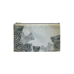 Background Retro Abstract Pattern Cosmetic Bag (small)
