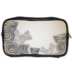 Background Retro Abstract Pattern Toiletries Bags